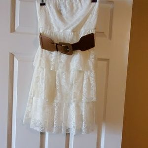 Cream strapless Dress